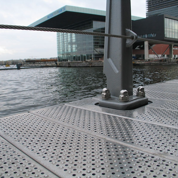 Marina anti slip metal decking graepel perforators for Lisbon cork co ltd fine cork flooring