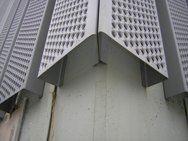 Galvanised perforated cladding graepel perforators