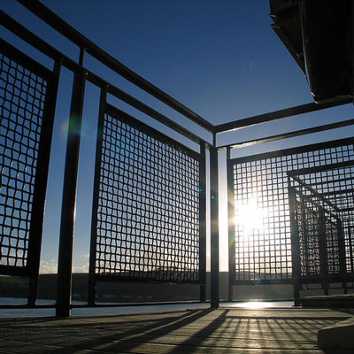 Woven wire, balustrade infill