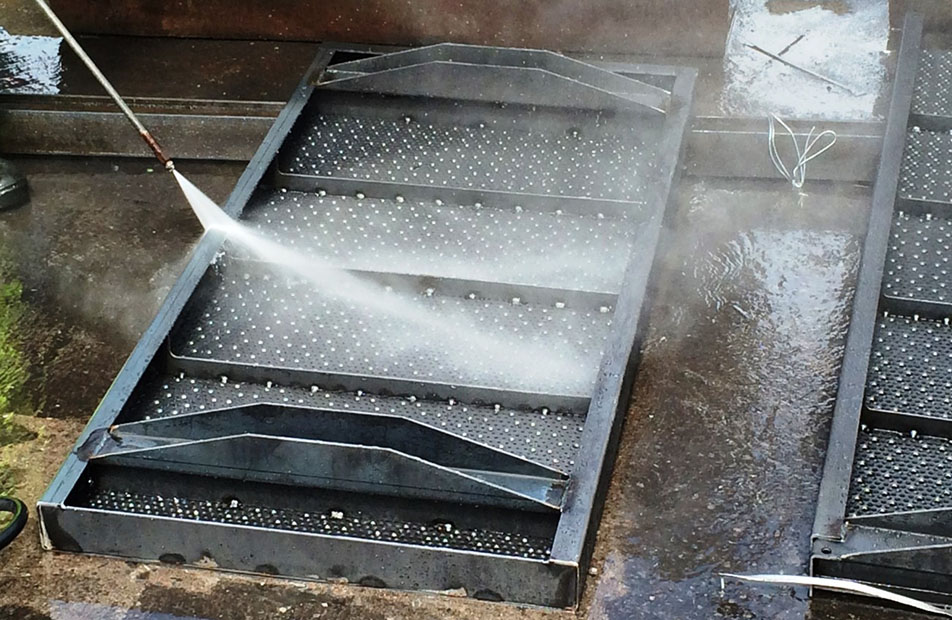 Perforated metal flooring