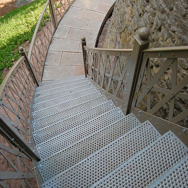 Metal Steps, Peforated Metal