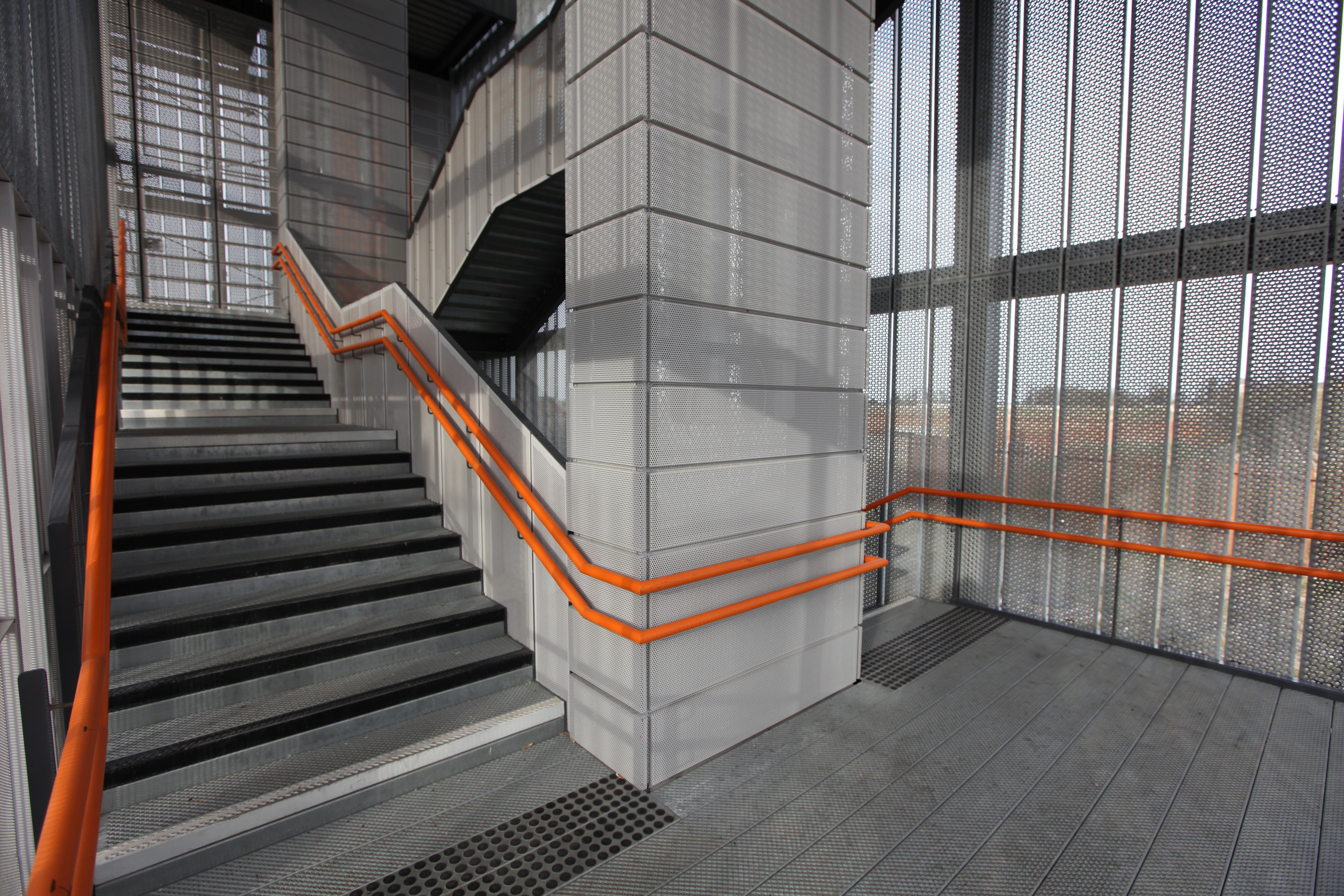 Train Station, Perforated Metal, Safedeck, Bespoke Design, Metal Design