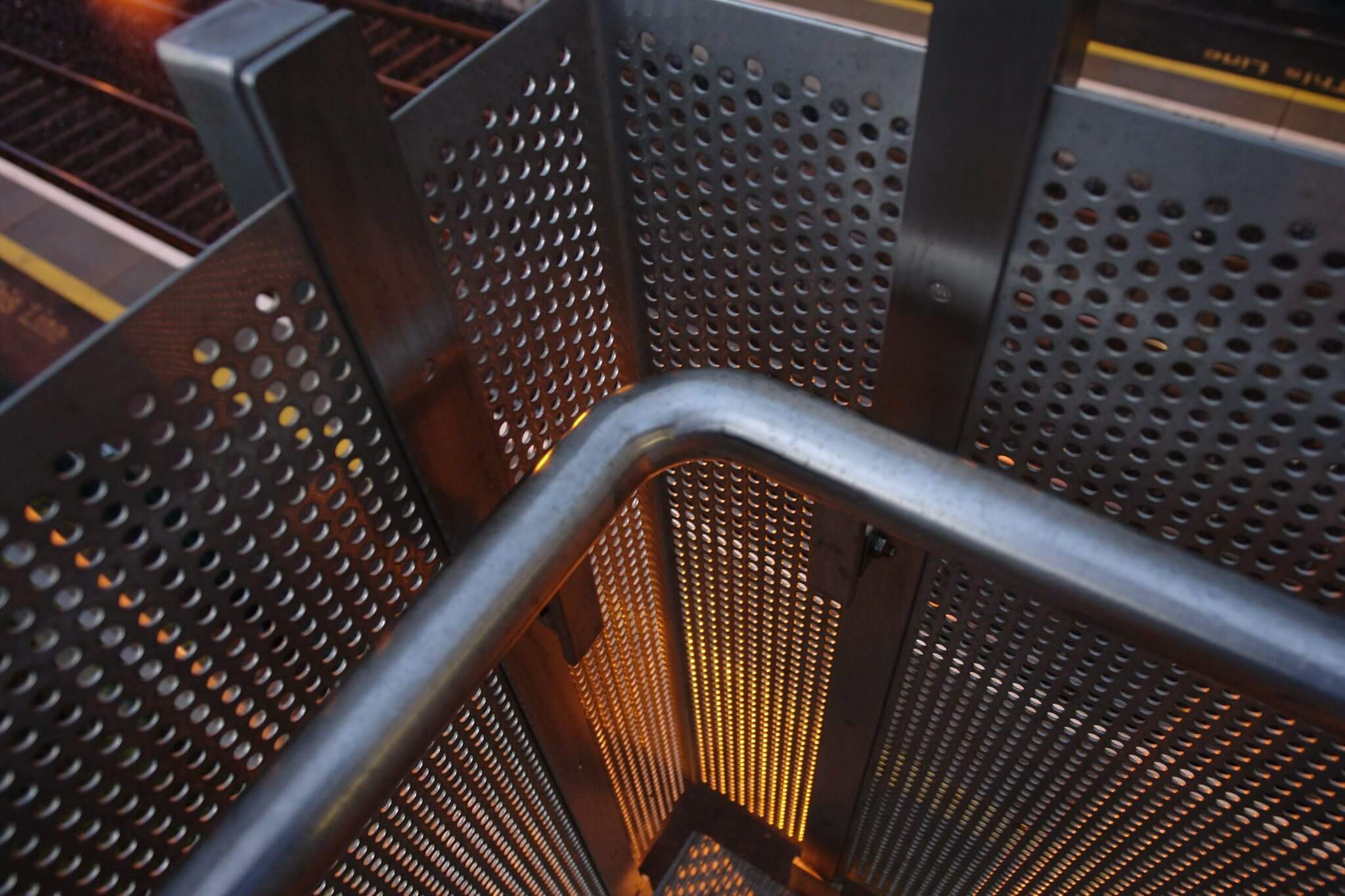 Stainless steel perforated panel