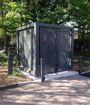 Perforated metal Bin Enclosures